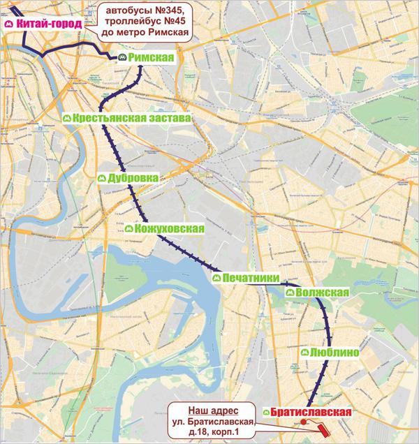 от метро Китай-Город